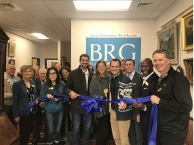 Grant, Christie, & Michael of BRG surrounded by local chambers of commerce members
