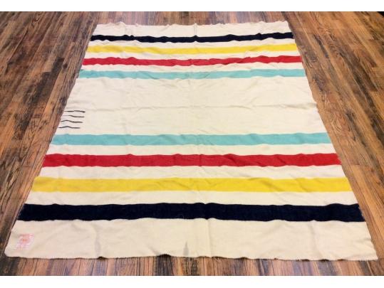 Hudson bay vintage 100 wool blanket black rock galleries for Brownstone liquidators
