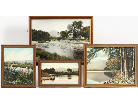 Four hand colored photographs on paper mostly by charles for Brownstone liquidators