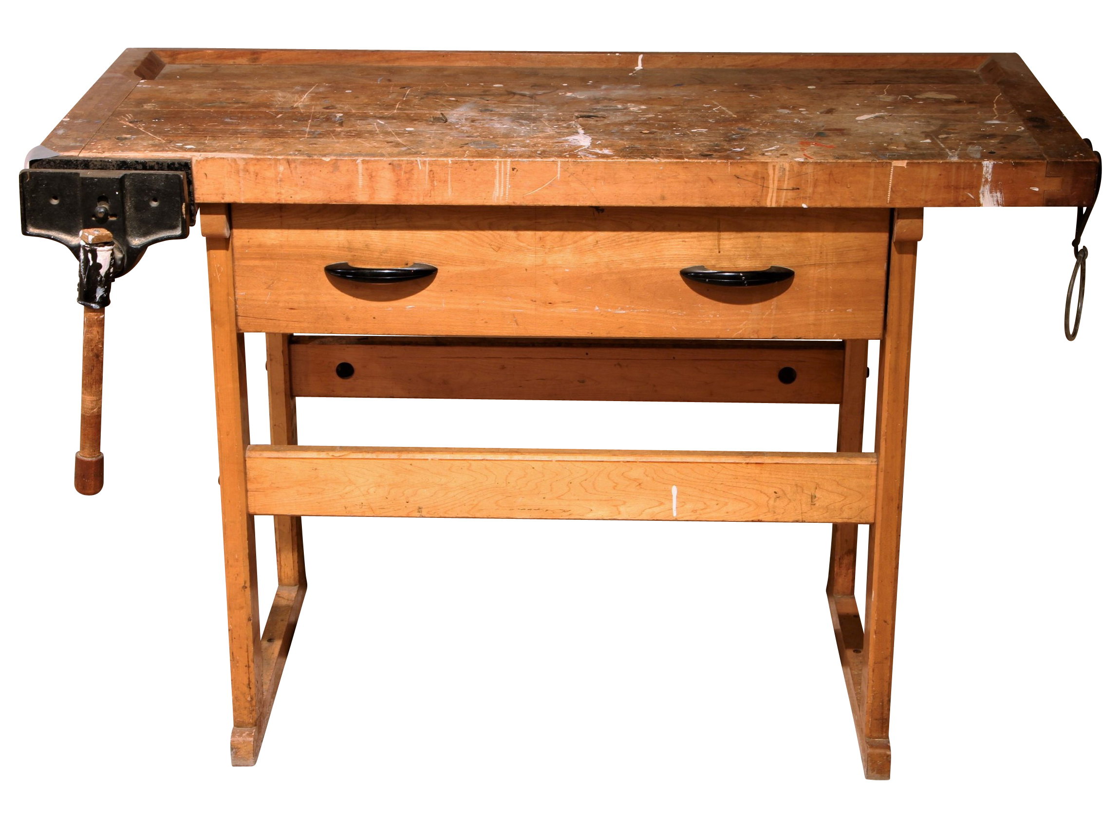 solid butcher block work bench black rock galleries