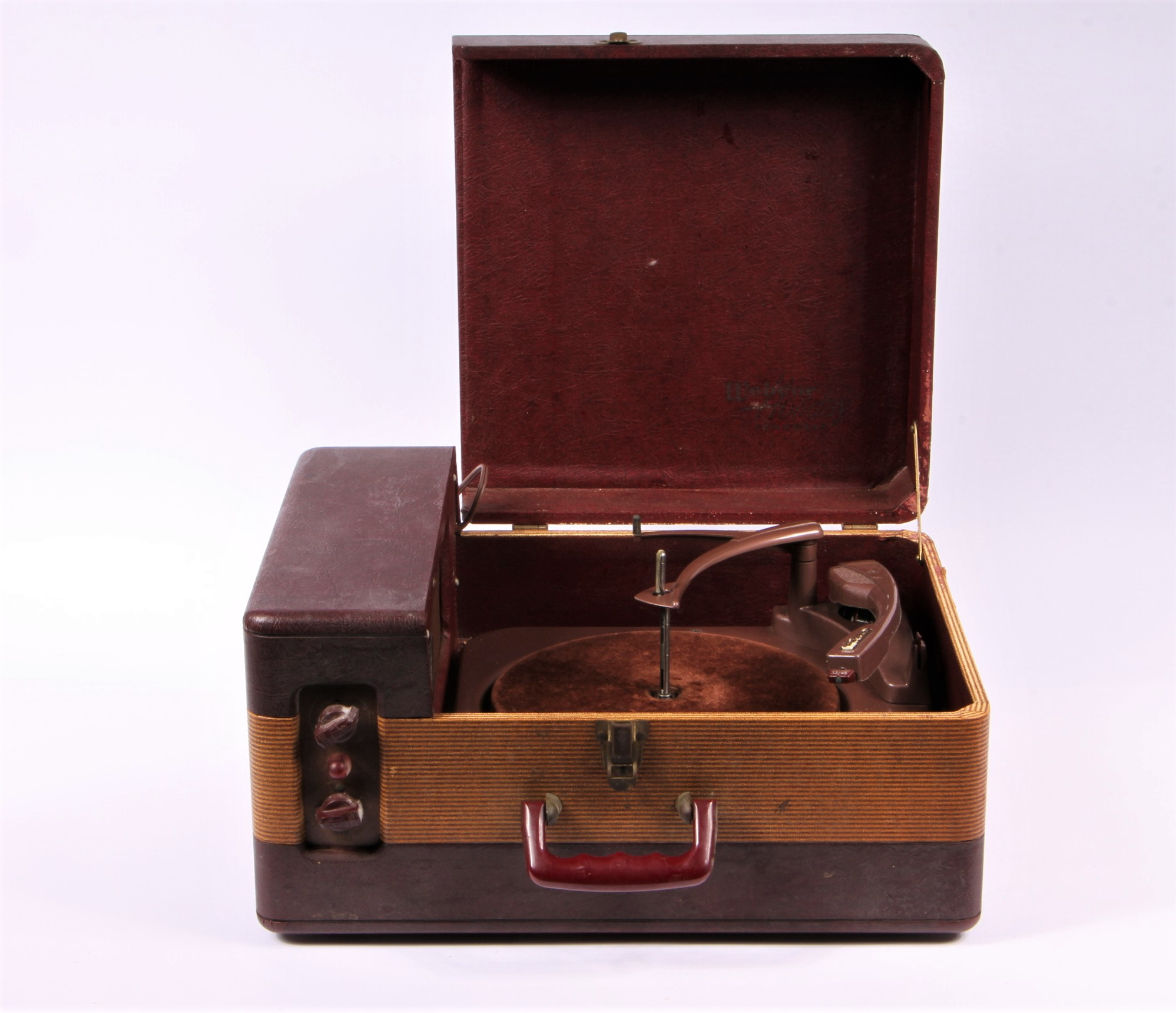 Webcor record player with case for restoration project for Brownstone liquidators