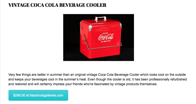Vintage Coca Cola Beverage Cooler
