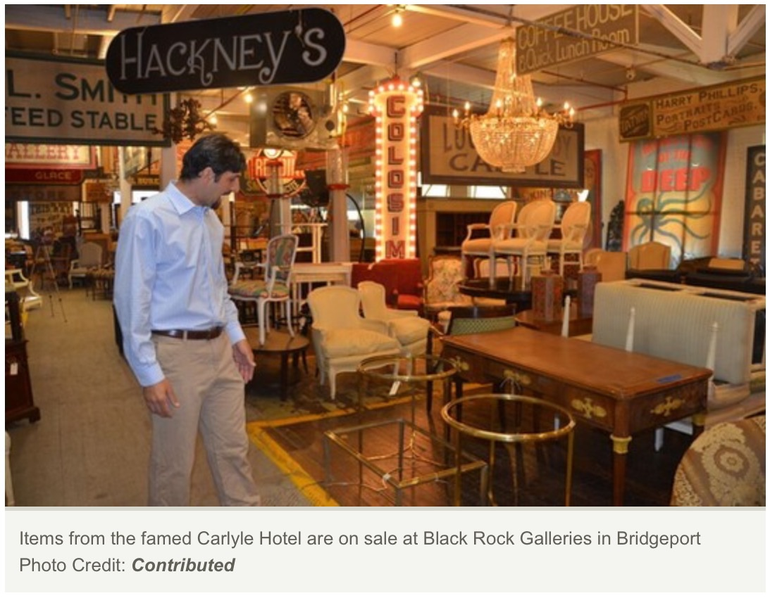 Vintage Carlyle Hotel Items Hit the Market at Black Rock Galleries
