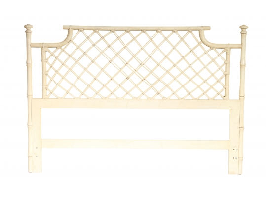 Faux Bamboo And Ratan Queen Size Headboard 14996 Black Rock Galleries