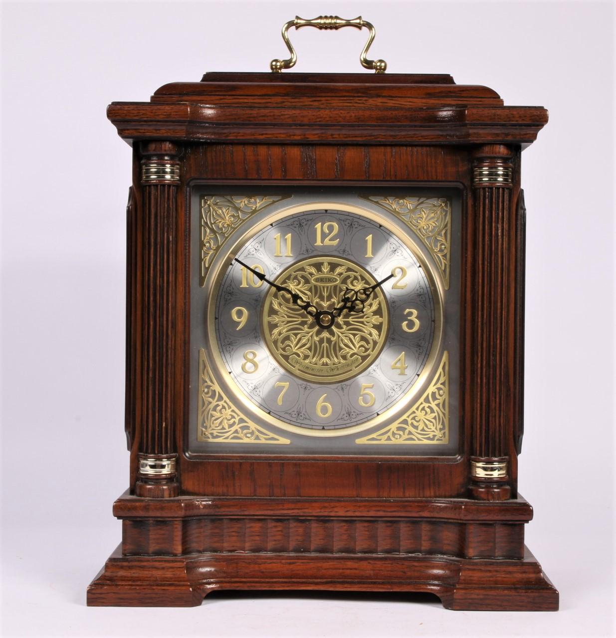 Seiko Westminster Whittington Mantle Clock Black Rock