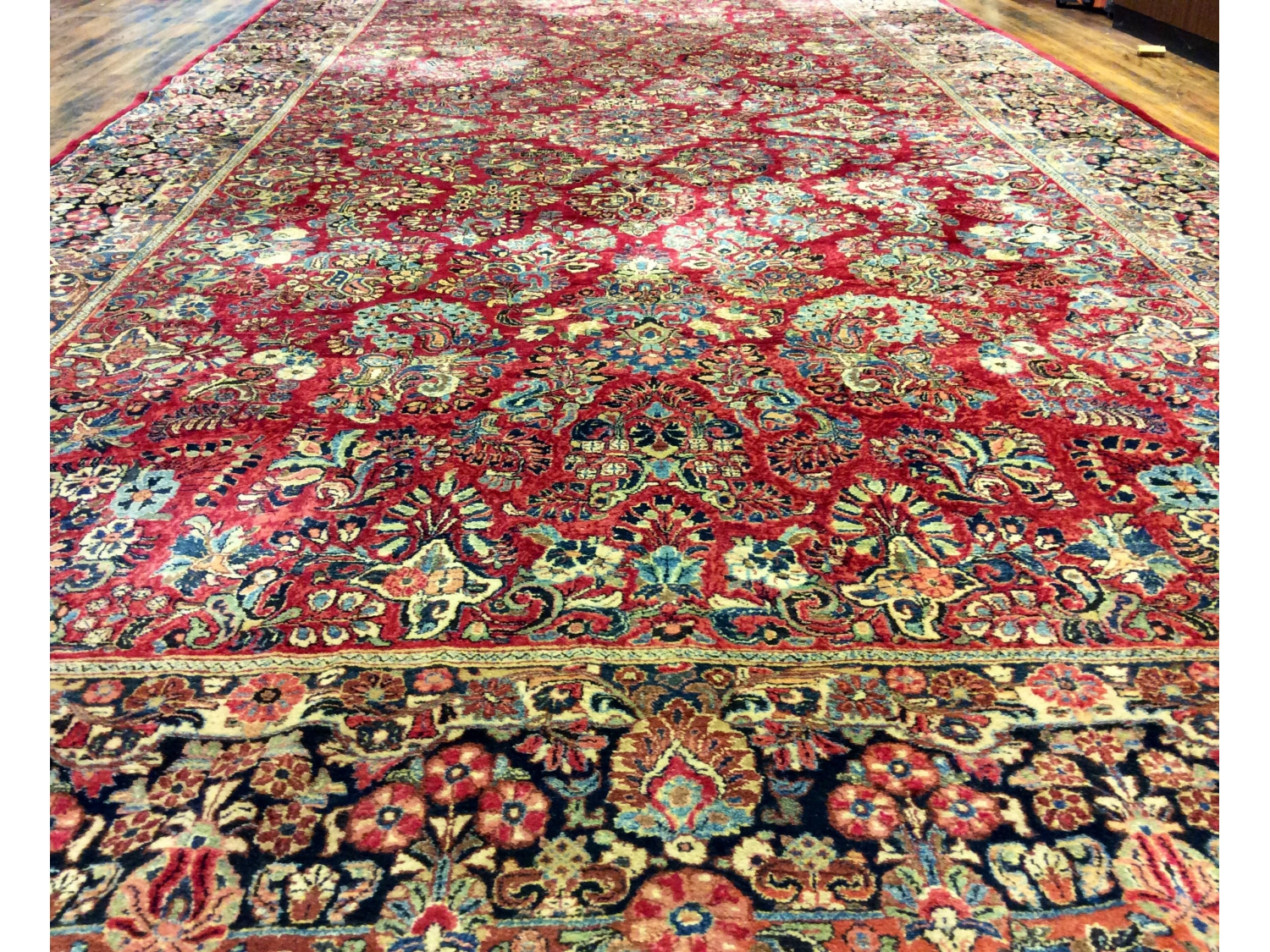 Palace sized hand knotted wool sarouk carpet ca 1940 19 for Brownstone liquidators