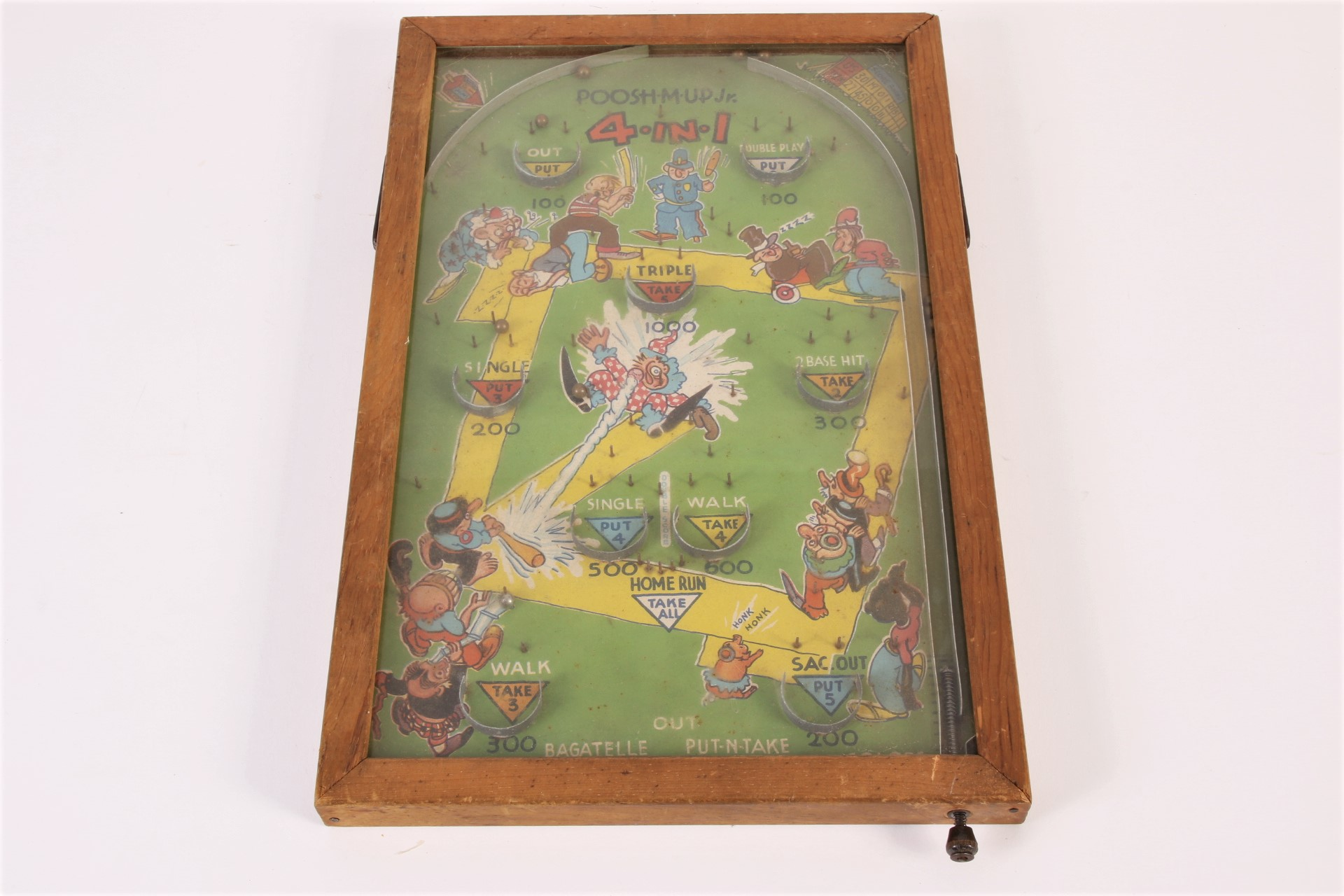Vintage Poosh M Up Jr 4 In 1 Pinball Game 62515 Black Rock Galleries