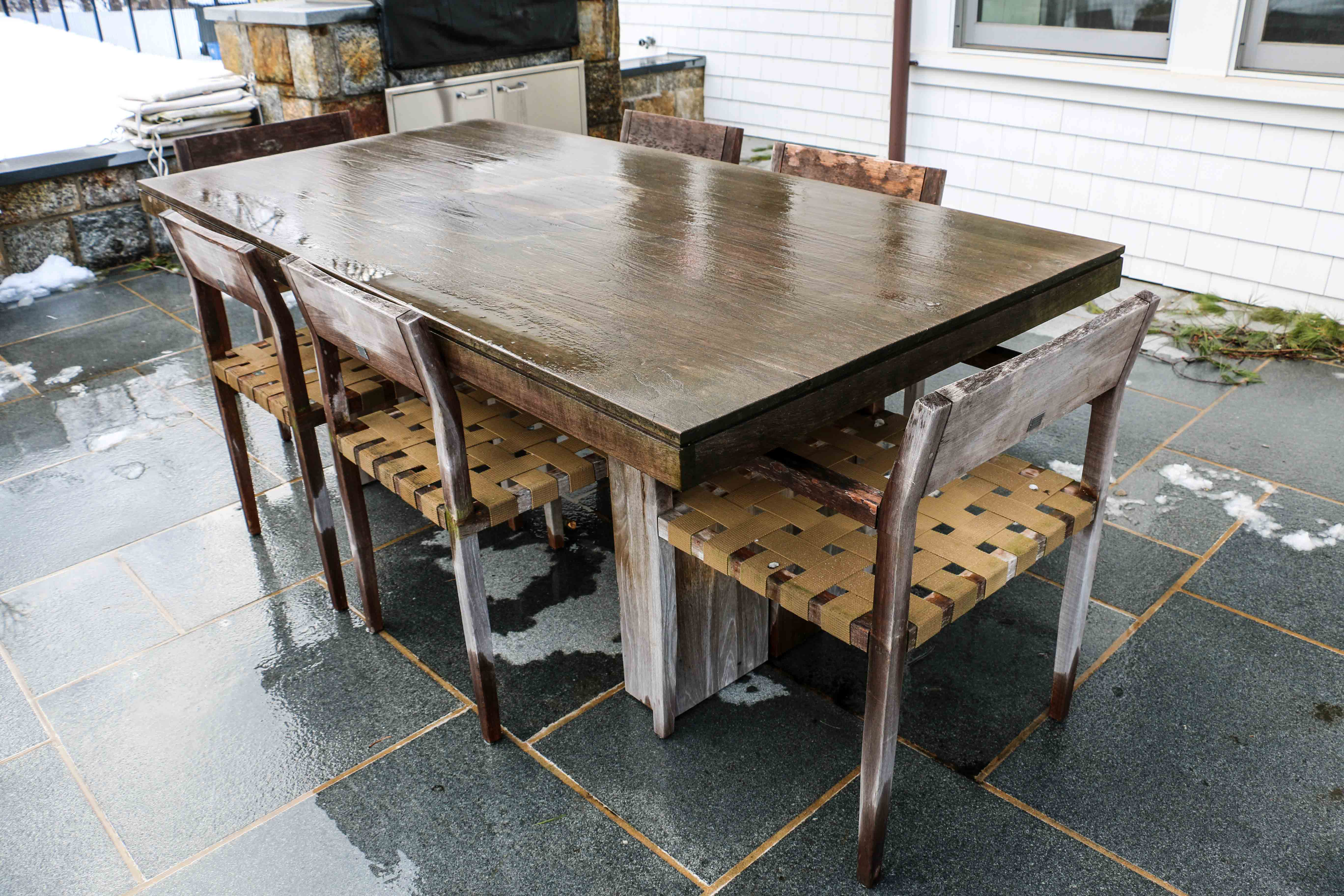 Design Within Reach Kayu Teak Dining Table With Six Rusa