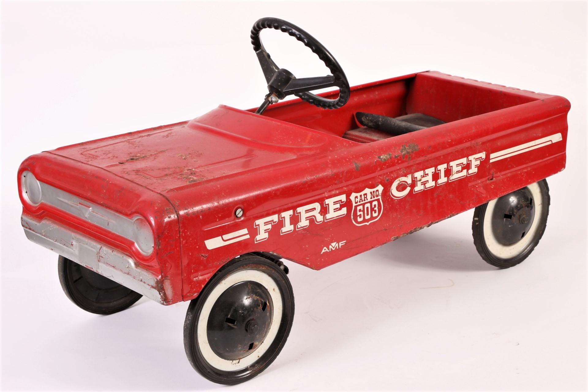 Vintage Amf Fire Chief Pedal Car Circa 1970 S 62575 Black Rock Galleries
