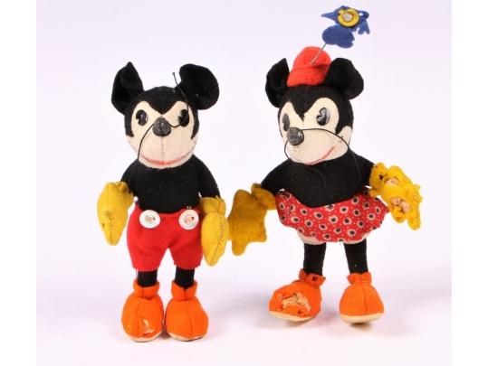 Rare Steiff Mickey And Minnie Mouse Circa 1930 S Black