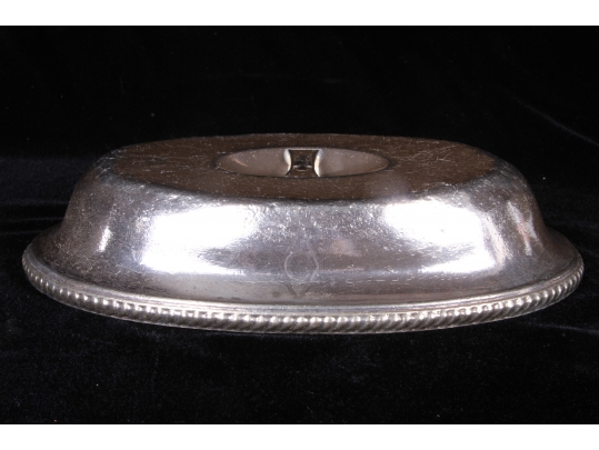 gorham silver soldered oval cover with caryle hotel logo