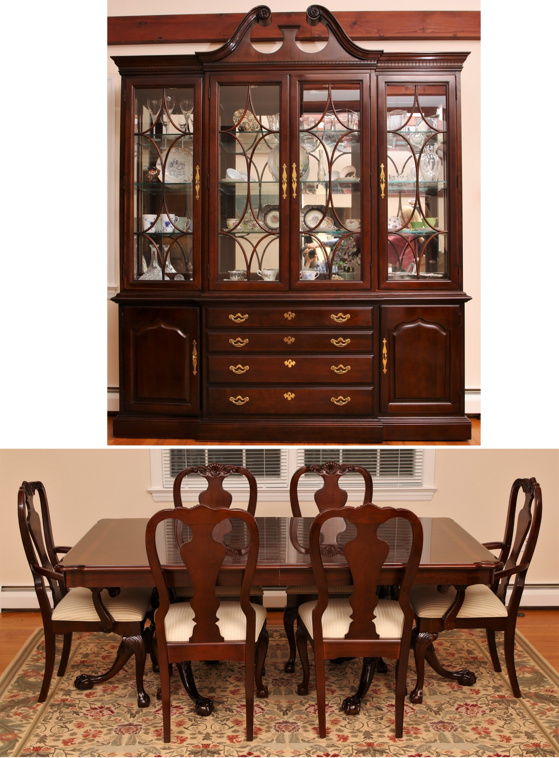 Stunning Thomasville Dining Room With Display Cabinet ...