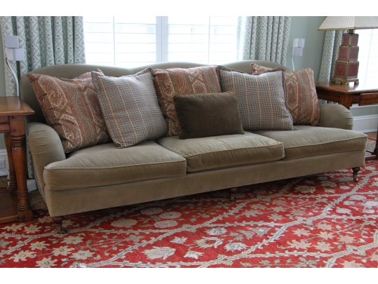 Nice Ralph Lauren Wyland Sofa With Accent Pillows   Original Purchase Price  $2660 | Black Rock Galleries