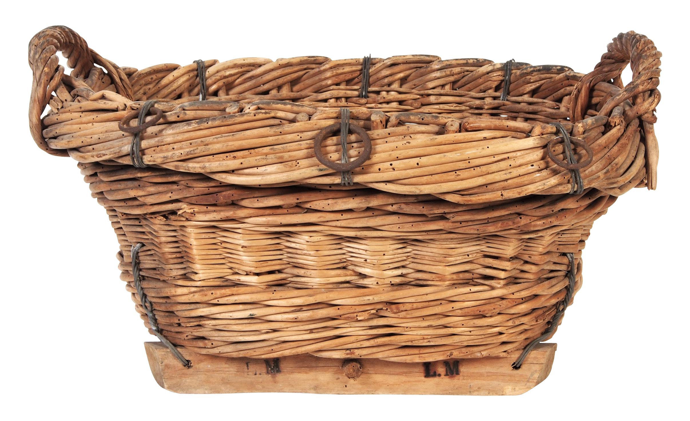 Antique Olive Basket   Black Rock Galleries