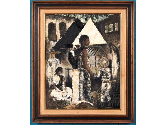 Jesus ortiz tajonar mexican 1919 1990 oil on canvas for Brownstone liquidators