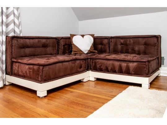 Pottery Barn Teen Cushy Lounge Super Sectional Sofa