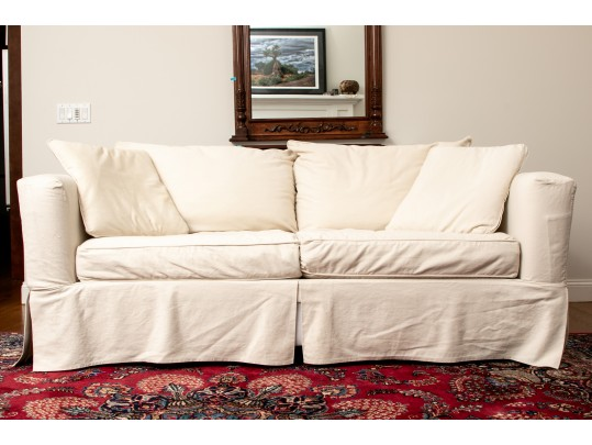 Ethan Allen Slip Covered Two Cushion