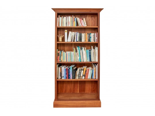 Vintage Cherry Wood Bookcase By Asher Benjamin Co All American