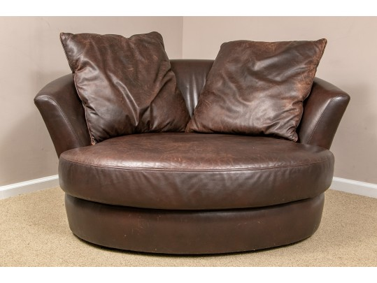 Super Cozy Lee Industries Round Leather Double Size Barrel ...