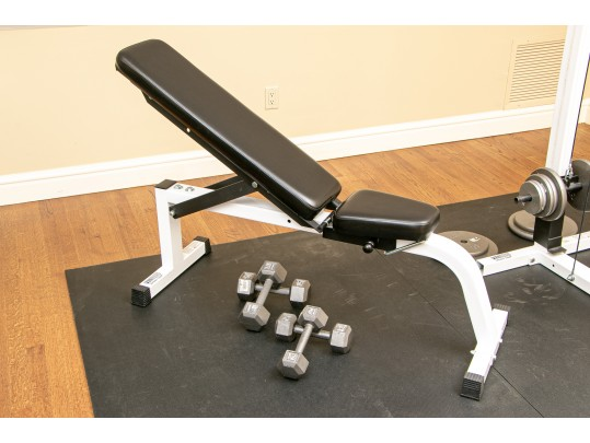 Parabody Serious Steel Incline Bench Press With Weights