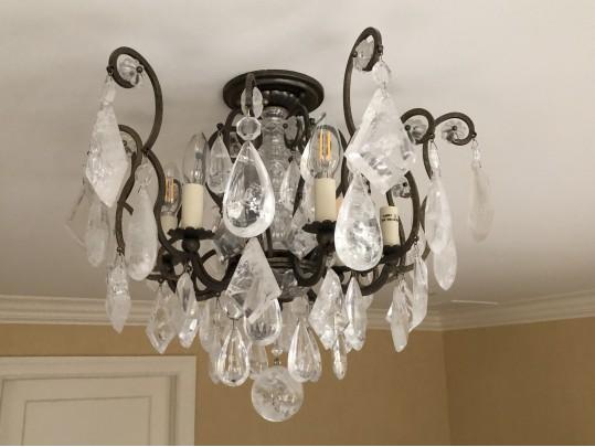The Metropolitan Lighting Fixture Co Rock Crystal Chandelier