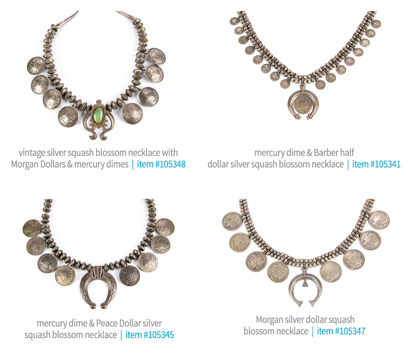 Additional Squash Blossom Necklaces in Native American & Western Collection Sale