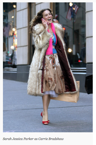 Fashionista, Carrie Bradshaw (Sara Jessica Parker), in HBO's Sex in the City