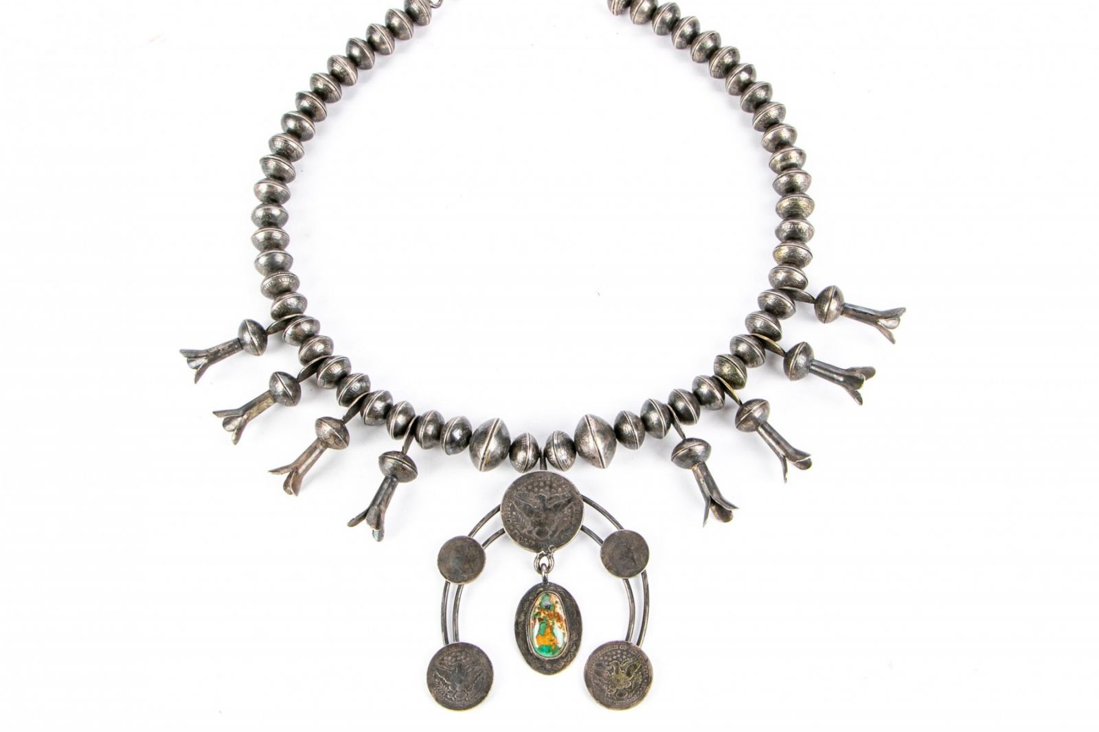 Squash Blossom Necklace with Coins Item #105346