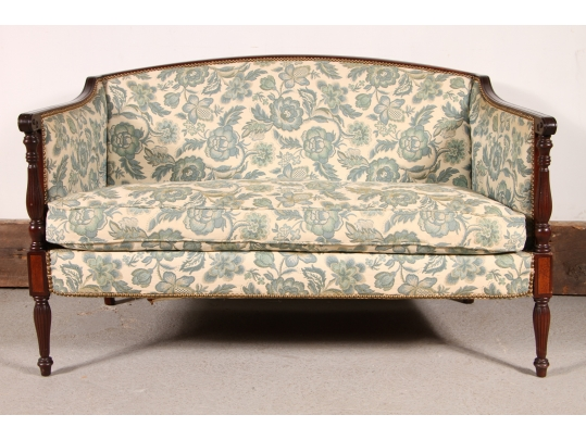 Settee retailed by b altman co upholstery project for Brownstone liquidators