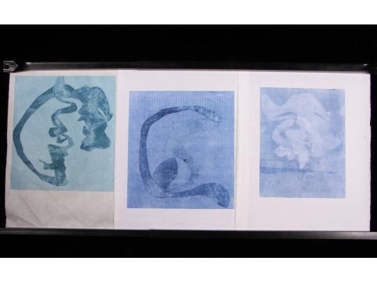 Three original mid century abstract aquatint prints for Brownstone liquidators