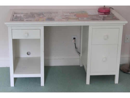 Pottery Barn Shadow Box Desk
