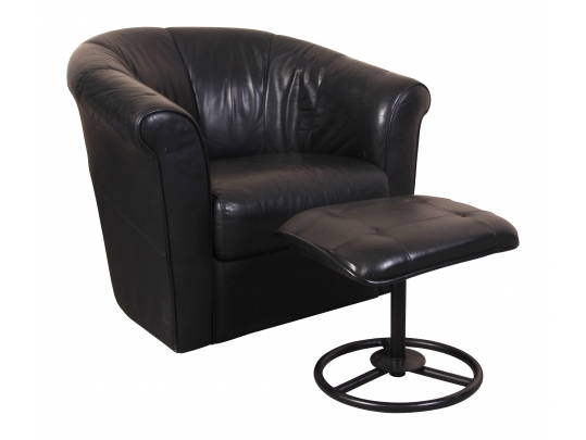 Incredible Italsofa Black Leather Swivel Tub Chair With Compatible Squirreltailoven Fun Painted Chair Ideas Images Squirreltailovenorg
