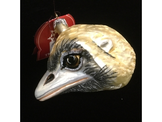 Ostrich Head Glass Ornament From Slavic Treasures Poland Black Rock Galleries