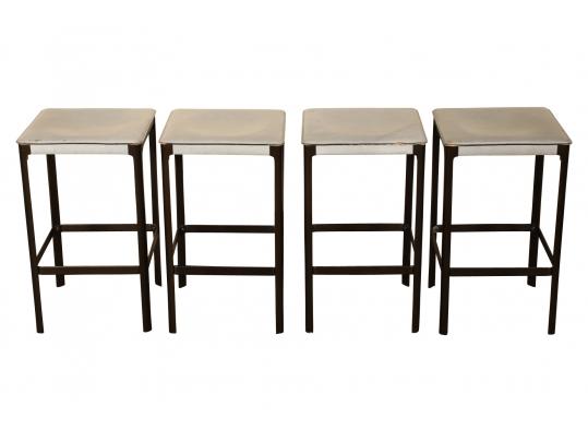 Matteo Grassi Design.Set Of Four Mid Century Modern Matteo Grassi Design Stools