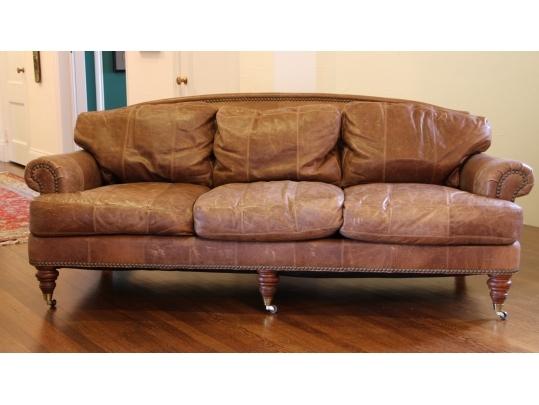 Lillian August Three Cushion Leather