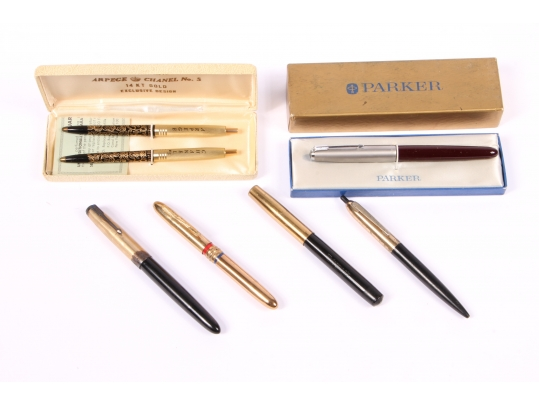 Vintage collection of ballpoint and fountain pens for Brownstone liquidators