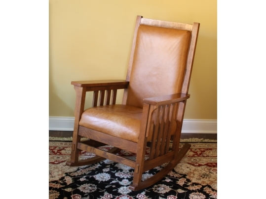 Sam Moore Furniture Mission Style Rocker Black Rock Galleries