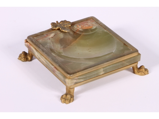 Vintage g s e ottone garantito onyx and gilt brass coin for Brownstone liquidators