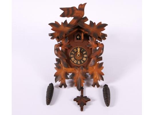 German carved wood cuckoo clock black rock galleries for Brownstone liquidators