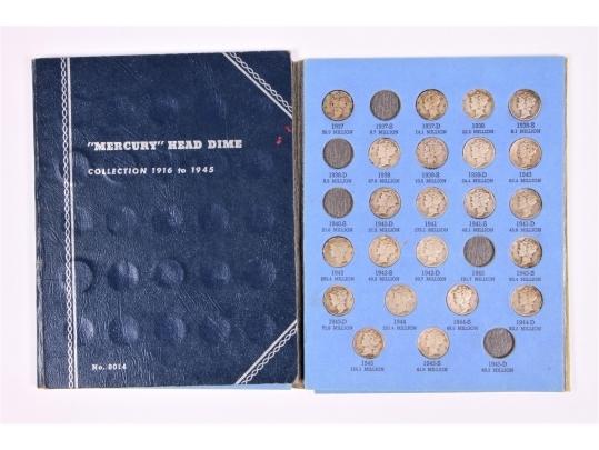 47 mercury head dimes in a collectors album black rock for Brownstone liquidators