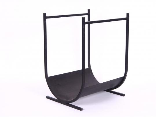 Wrought iron log holder good quality black rock galleries for Brownstone liquidators