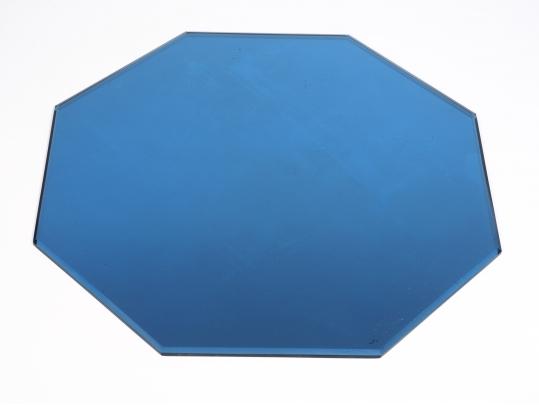Art deco octagonal cobalt blue glass circa 1920 black for Brownstone liquidators