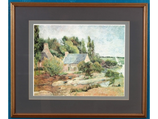 Large mounted and framed print by paul gauguin for Brownstone liquidators
