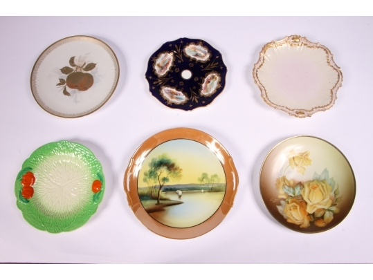 Collection of six cabinet plates black rock galleries for Brownstone liquidators
