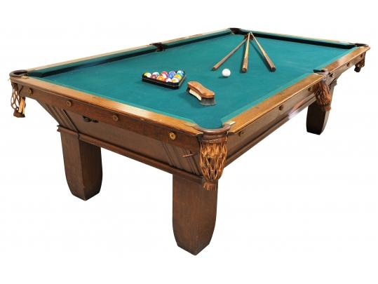 Brunswick Balke Collender Co Monarch Cushions Foot Billiard Table - Brunswick monarch pool table